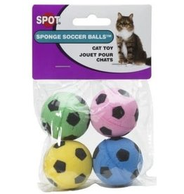 Ethical Pet Products ETHICAL Cat Sponge Soccer Balls 4pk