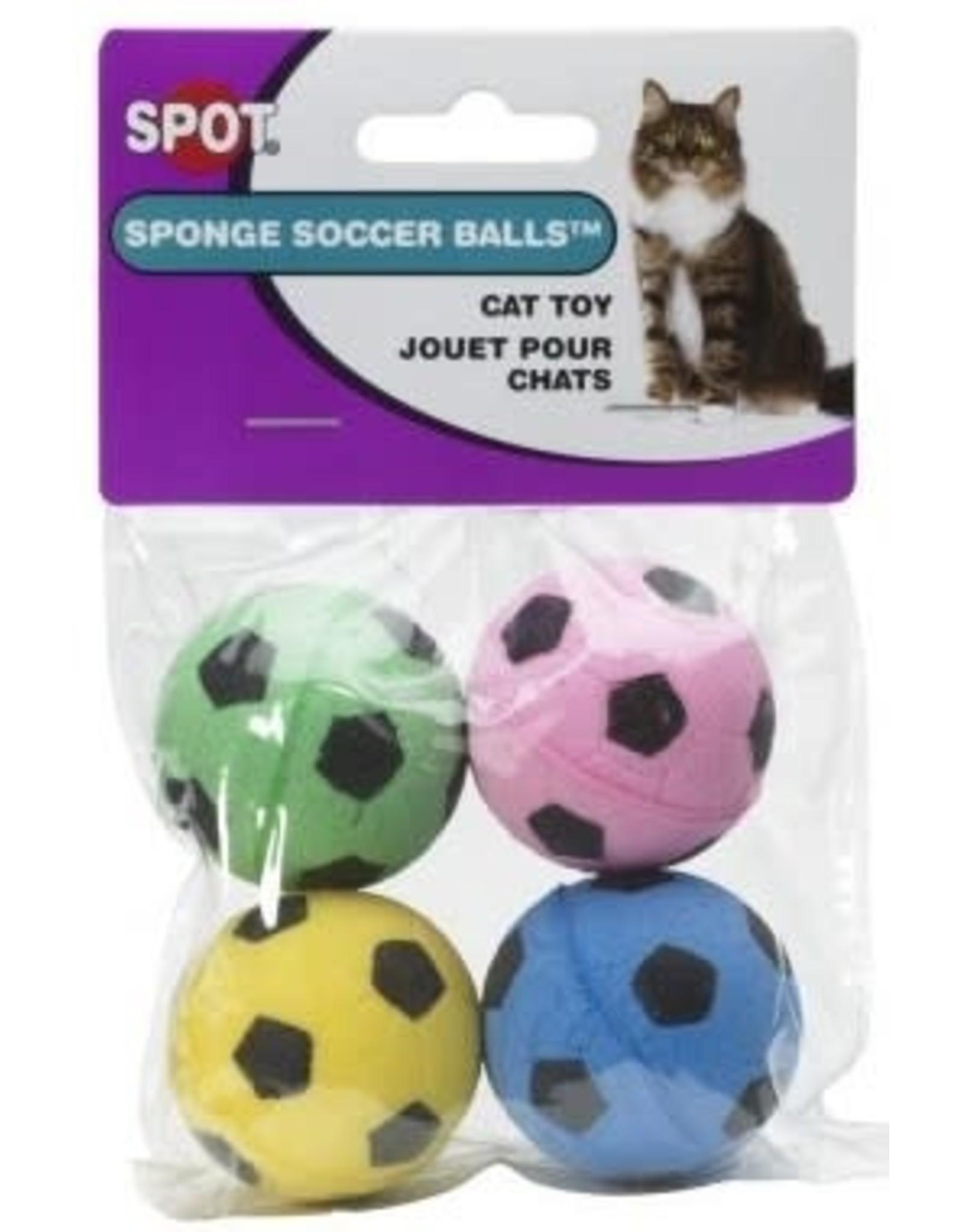 Ethical Pet Products ETHICAL Cat Sponge Soccer Balls 4pk