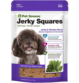 Bell Rock Growers BELLROCK Pet Greens Jerky Squares Lamb and Chicken 4oz