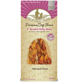 Fieldcrest Farms FIELDCREST FARMS Braided Bully Stick 6 3pk