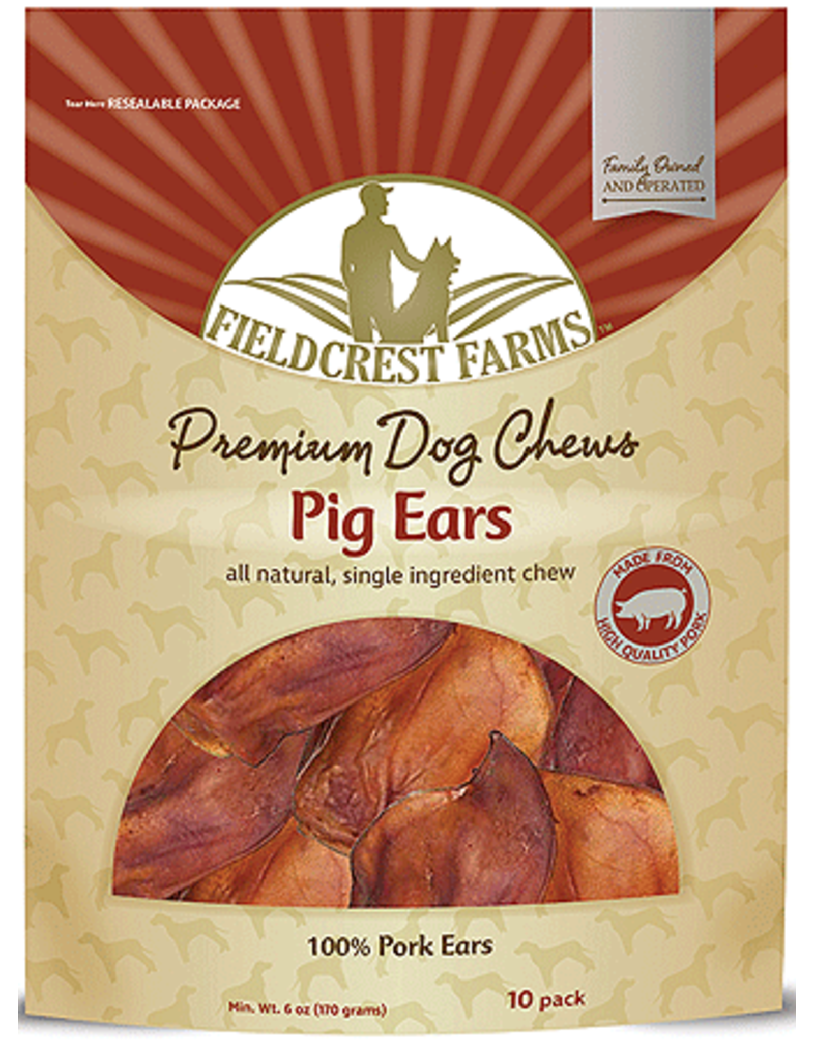 Fieldcrest Farms FIELDCREST FARMS Smoked Pig Ears 10ct