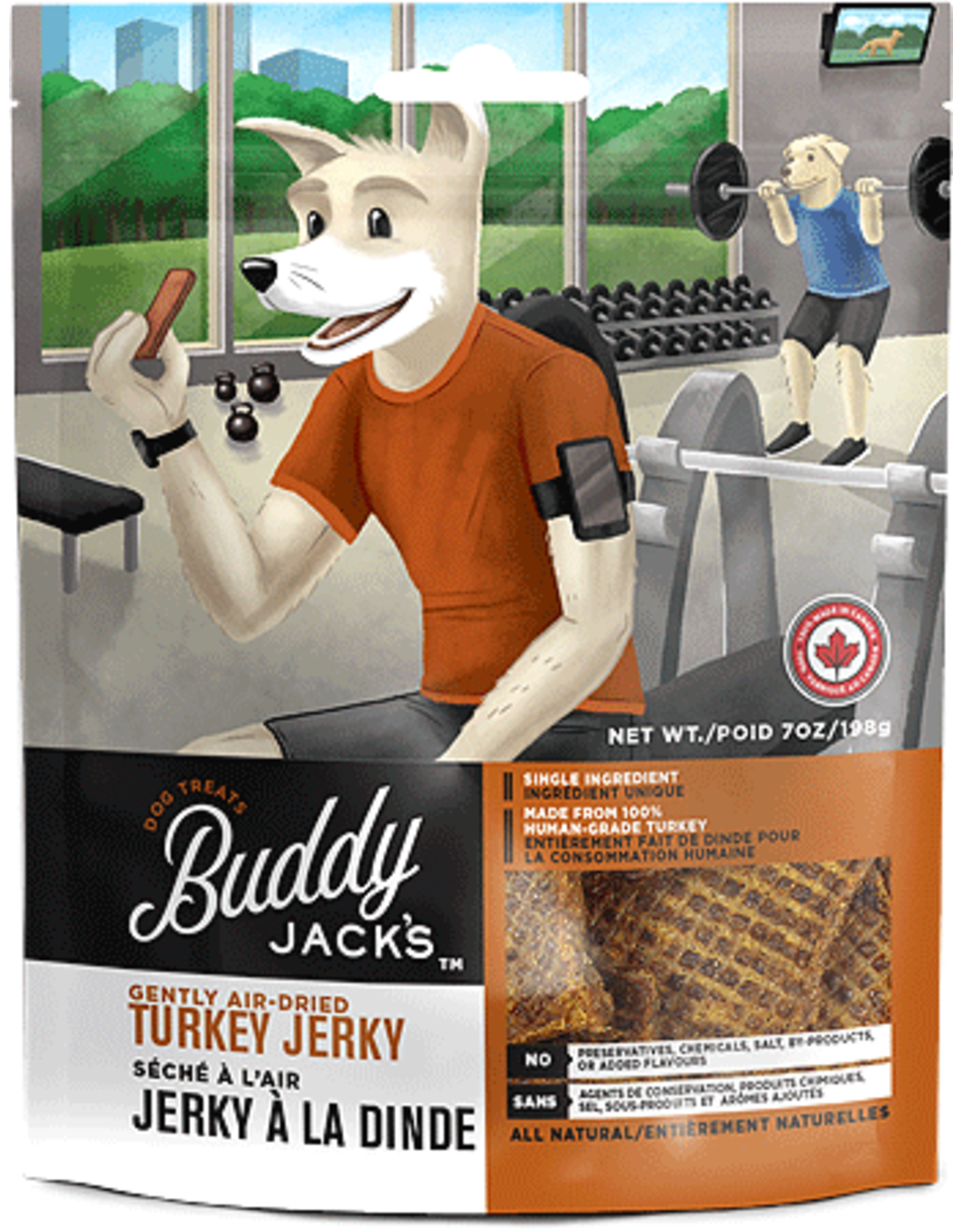 Canadian Jerky Co. BUDDY JACKS Jerky Turkey 7oz