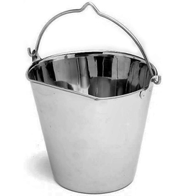 Ethical Pet Products ETHICAL SS Flat Sided Pail 4qt