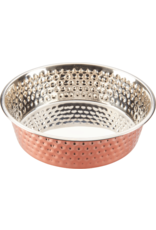 Ethical Pet Products HONEYCOMB Hammered Copper Bowl 1qt