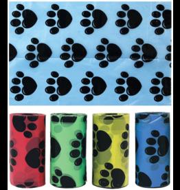 Multipet MULTIPET Waste Bags Paw Print 120ct