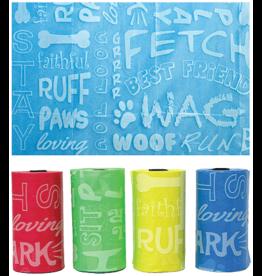 Multipet MULTIPET Waste Bags Dog Words 120ct