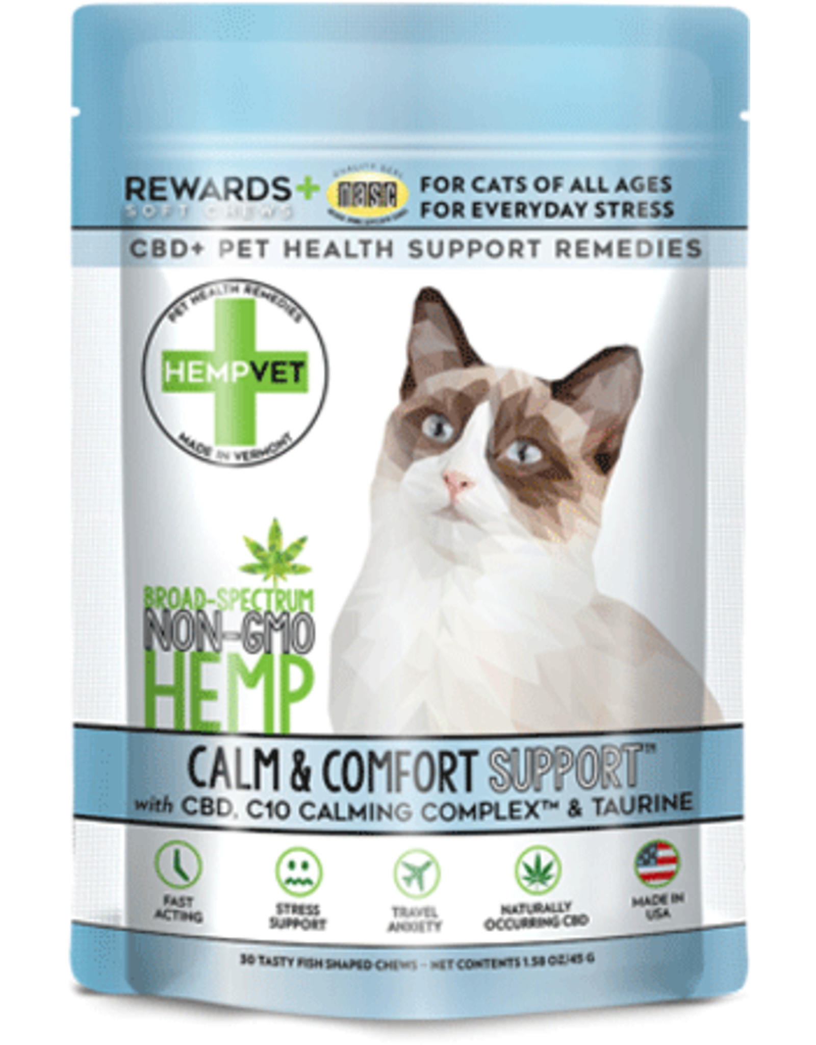 HempVet HEMPVET Cat Calm  Comfort 30ct