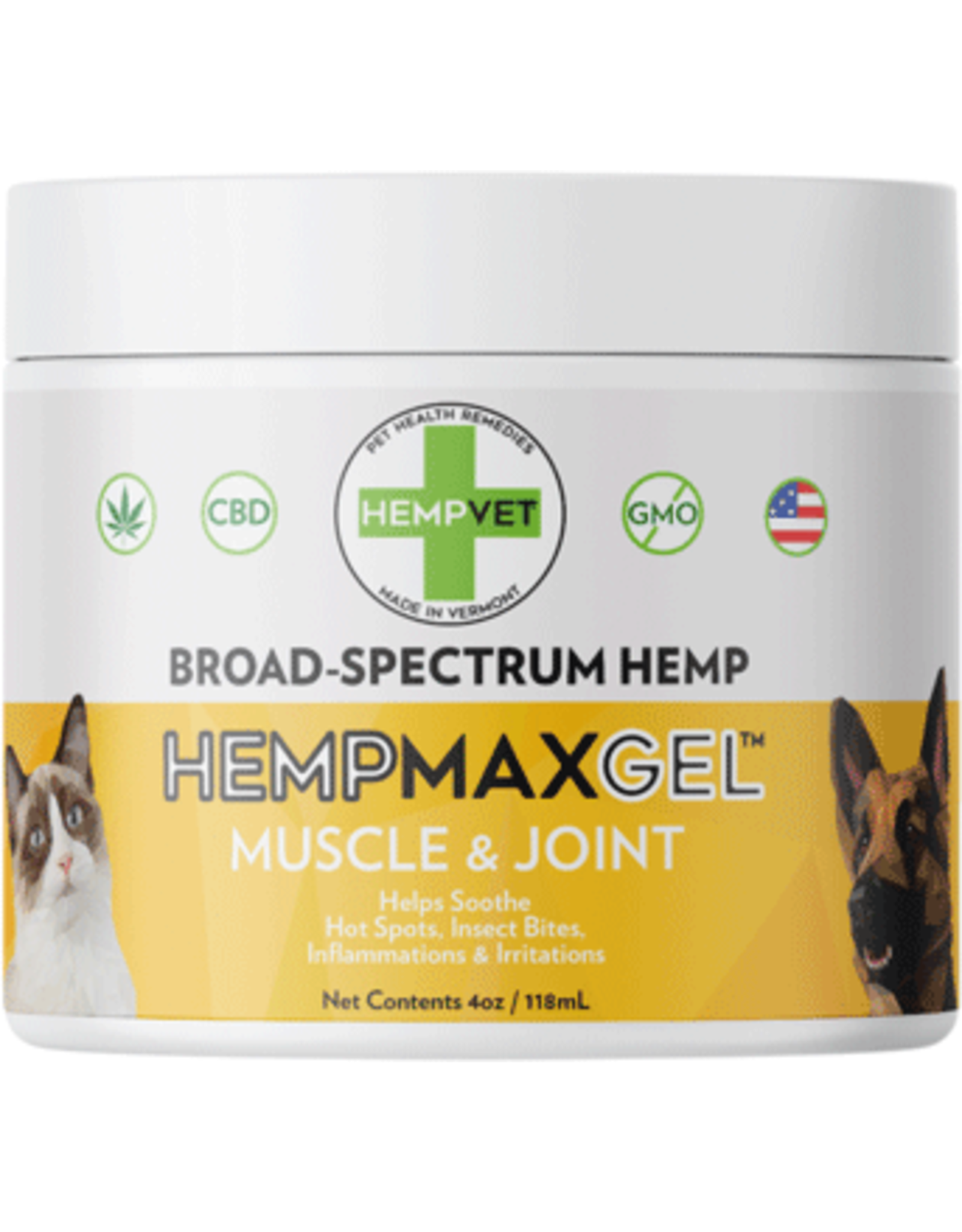 HempVet HEMPVET Muscle  Joint Gel 4oz