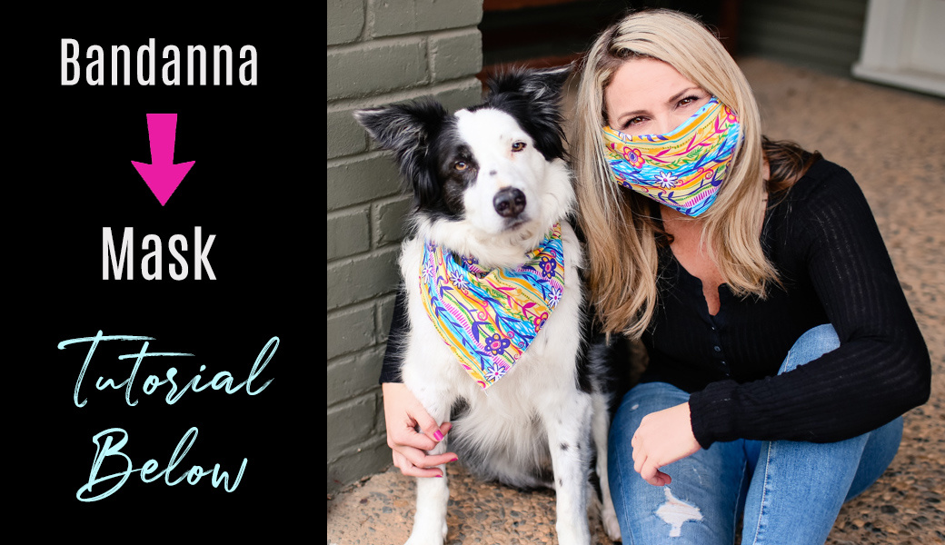 Double The Use Of Dog Bandannas For A Mask!