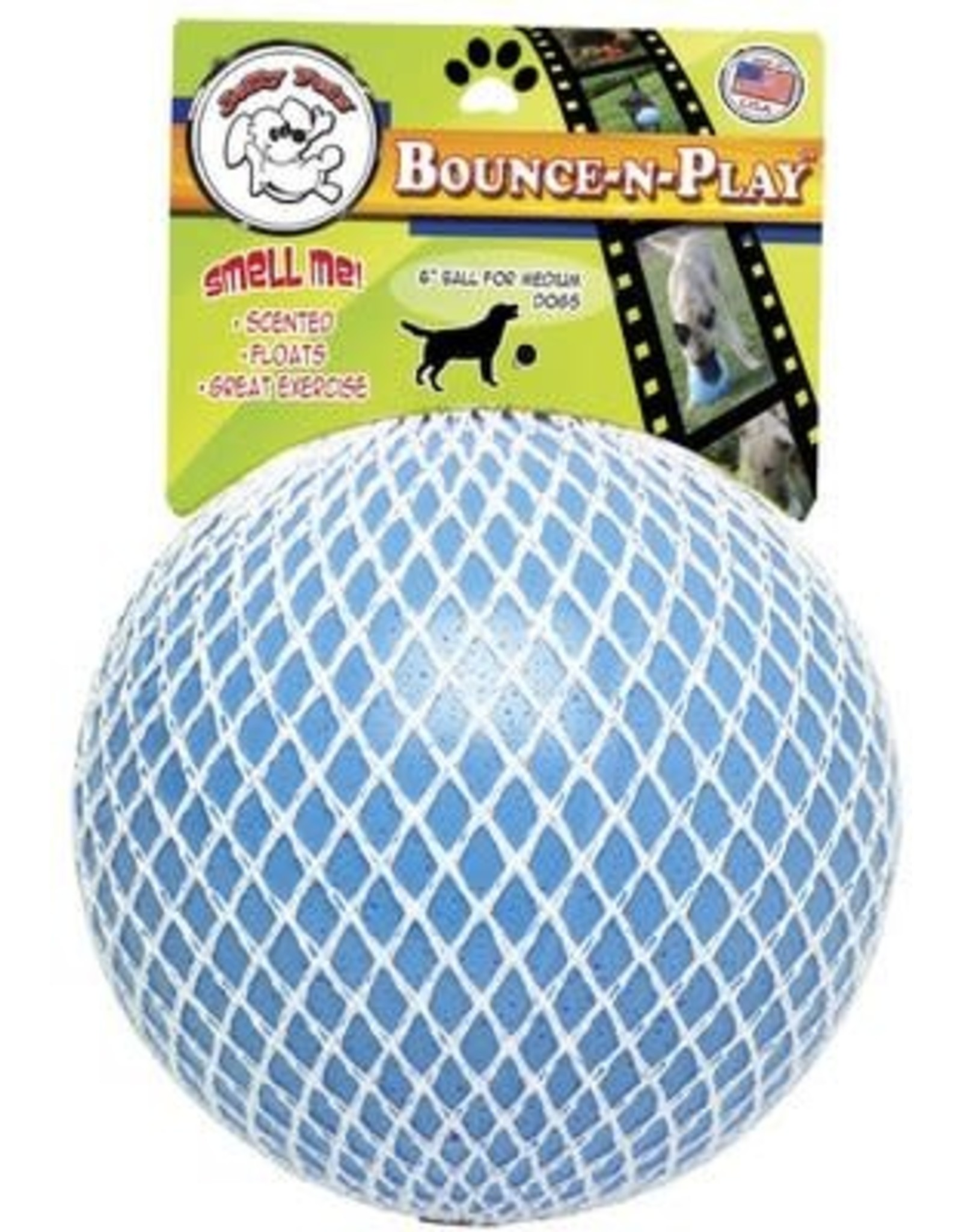Jolly Pet JOLLYPET Bounce-n-Play 8in Blueberry