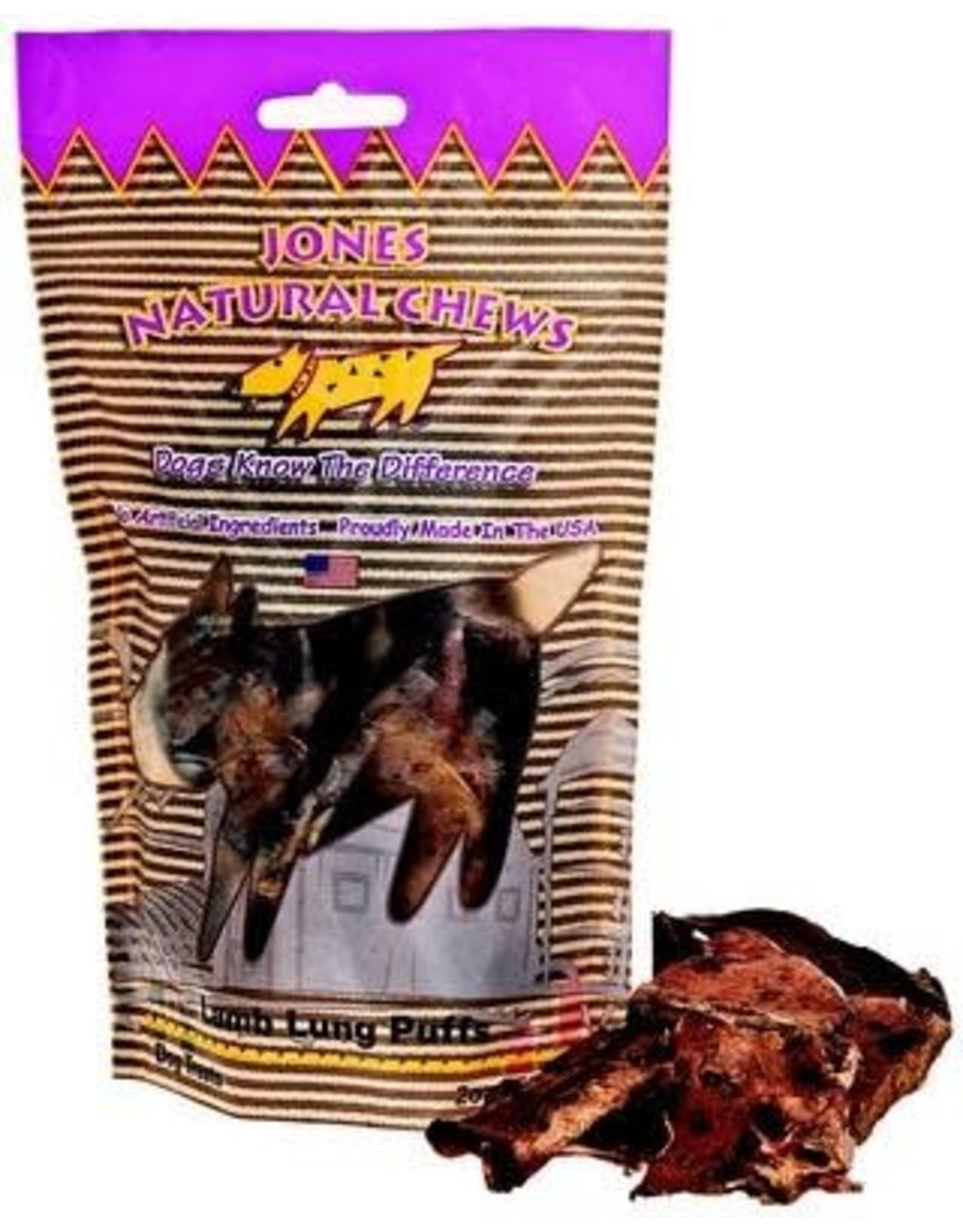 Jones Natural Chews JONES Lamb Lung Puffs 2oz
