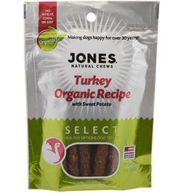 Jones Natural Chews SELECT Organic TurkeySweet Potato Treat 4oz