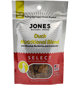 Jones Natural Chews SELECT GF Duck Nutritional Treat 3.5oz