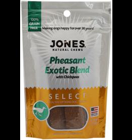 Jones Natural Chews SELECT GF Exotic Pheasant Treat 3oz