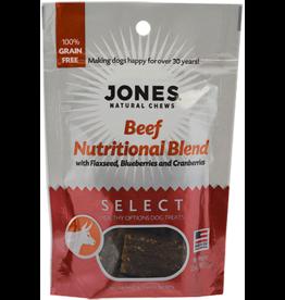 Jones Natural Chews SELECT GF Beef Nutritional Treat 3.5oz