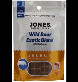 Jones Natural Chews SELECT GF Exotic Wild BoarTreat 3oz