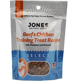 Jones Natural Chews SELECT GF Training BeefChicken Treat 5oz