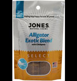 Jones Natural Chews SELECT GF Exotic Alligator Treat 3oz