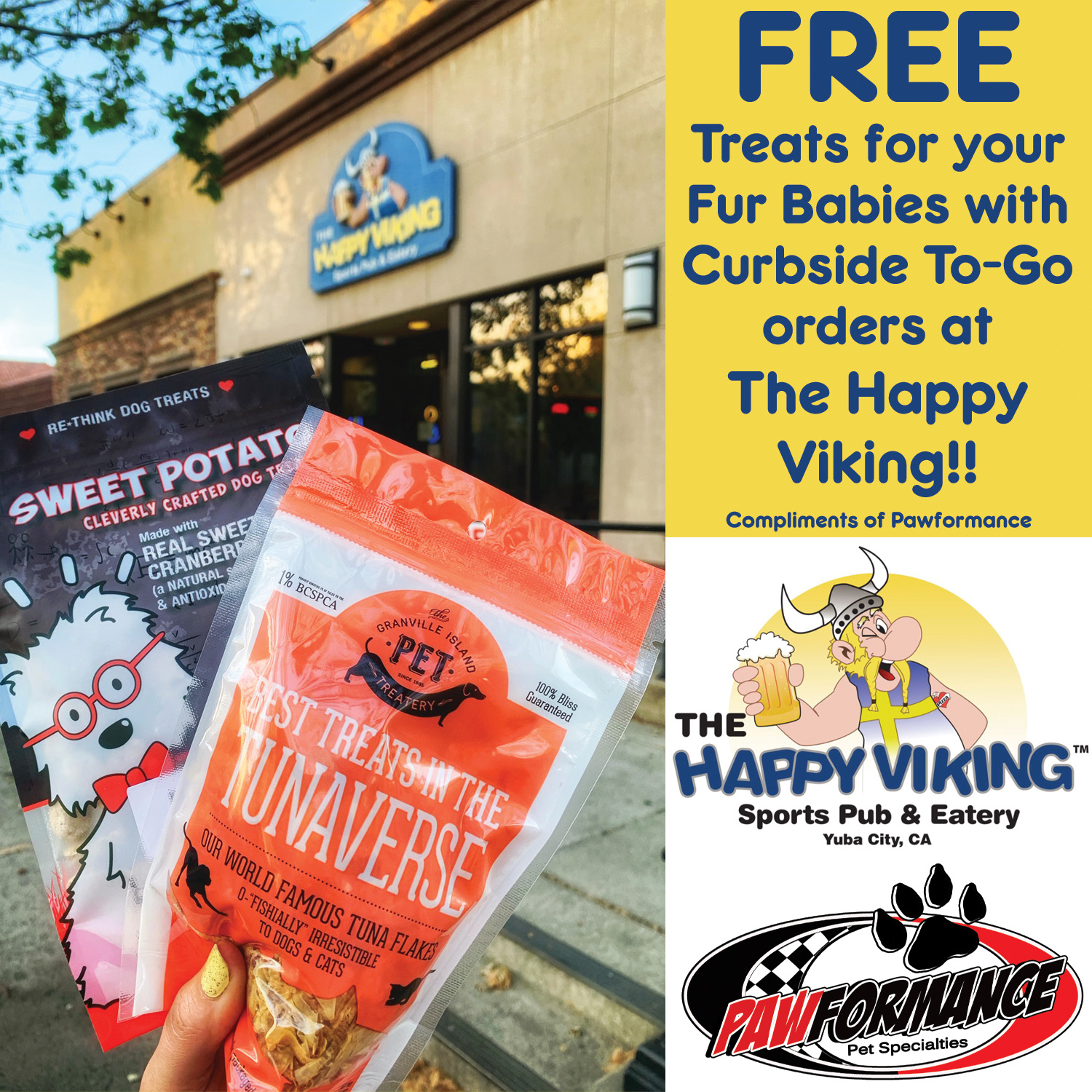 Free Treats With Take-Out Order From The Happy Viking!