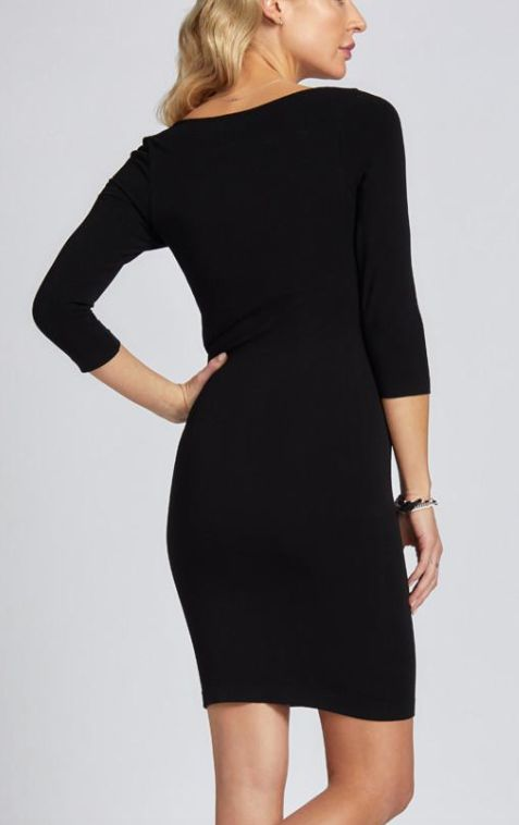 CEST MOI CLOTHING CEST BAMBOO 3/4 SLEEVE DRESS O/S