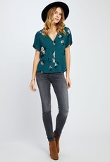 GENTLE FAWN HATTIE TEAL TOP