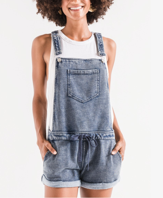 Z SUPPLY Z SUPPLY KNIT DENIM SHORTALL