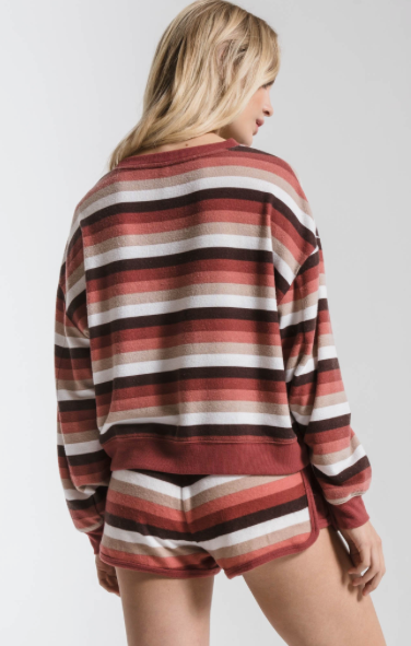 Z SUPPLY Z SUPPLY MESA RED RAINBOW PULLOVER