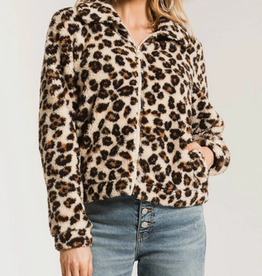 Z SUPPLY Z SUPPLY LEOPARD SHERPA CROP JACKET