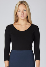CEST MOI CLOTHING BAMBOO 3/4 TOP SCOOP NECK