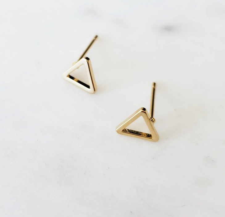 COUTUKITSCH COUTUKITSCH TRIANGLE STUD EARRINGS