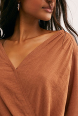 FREE PEOPLE FREE PEOPLE CHECK ON IT WRAP TOP