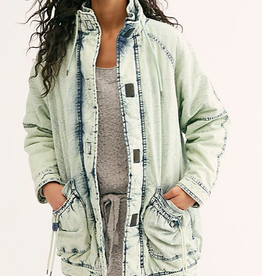 FREE PEOPLE FREE PEOPLE REAL GAMES DENIM PARKA