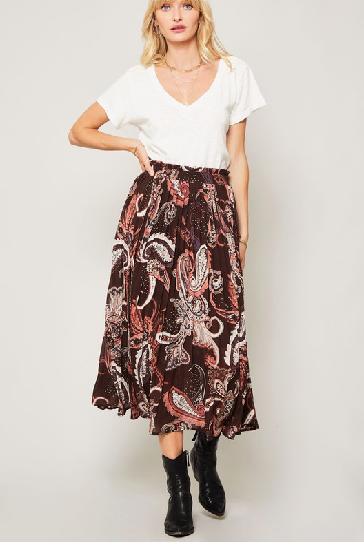 HOUSE OF FREYJA PLEATED SKIRT