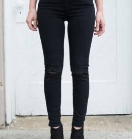 SILVER JEANS BLACK ISBISTER RIPS