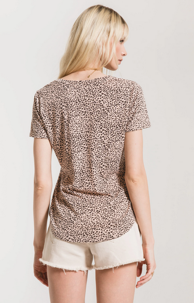 Z SUPPLY Z SUPPLY MINI LEOPARD V-NECK