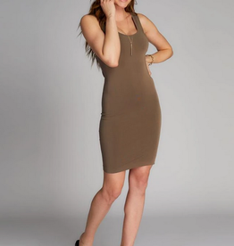 CEST MOI CLOTHING BAMBOO TANK DRESS OLIVE