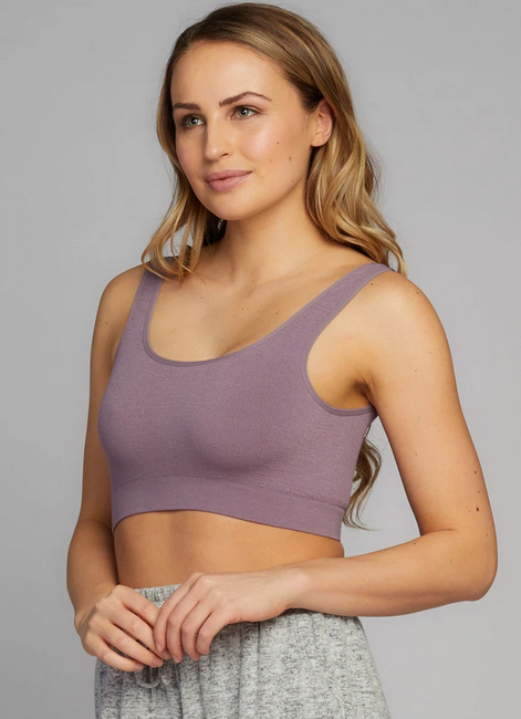 CEST MOI CLOTHING BAMBOO SCOOP BRALETTE MAUVE