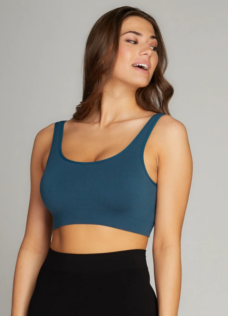 CEST MOI CLOTHING BAMBOO SCOOP BRALETTE TEAL