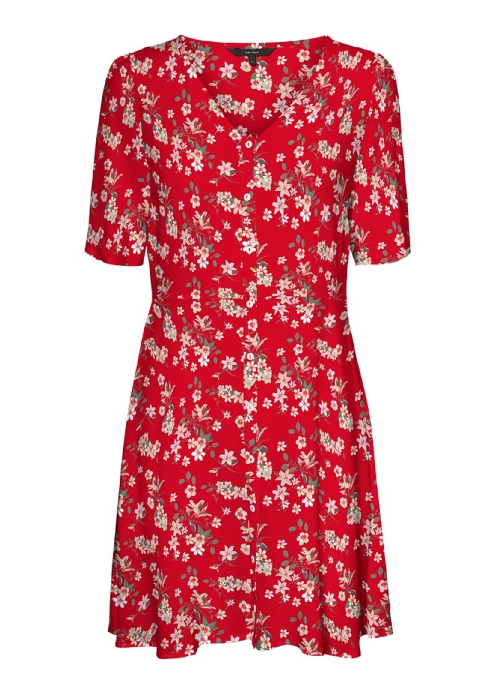 Vero Moda VERO MODA RED FLORAL DRESS