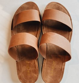 FREYJA TWO BAND TAN FLAT