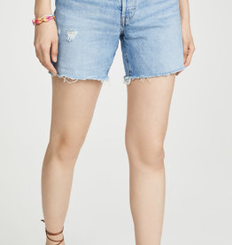 LEVI'S LEVI'S 501 MID THIGH SHORT LUXOR BLUE WASH