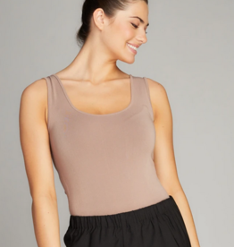 CEST MOI CLOTHING BAMBOO TANK BODYSUIT TAUPE