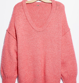 FREE PEOPLE FREE PEOPLE BROOKSIDE TUNIC PINK!