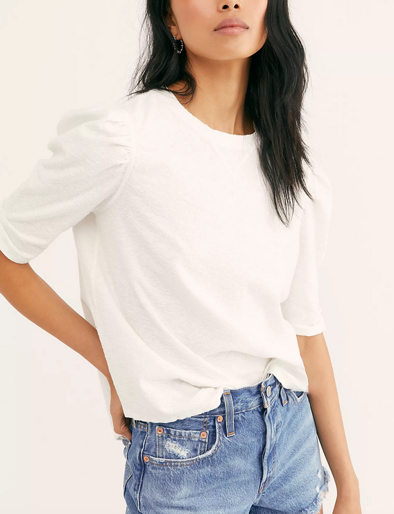 FREE PEOPLE FREE PEOPLE JUST A PUFF TOP