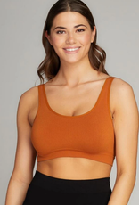 CEST MOI CLOTHING BAMBOO SCOOP BRALETTE GINGER