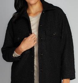 CEST MOI CLOTHING CEST MOI BOUCLE COAT BLACK