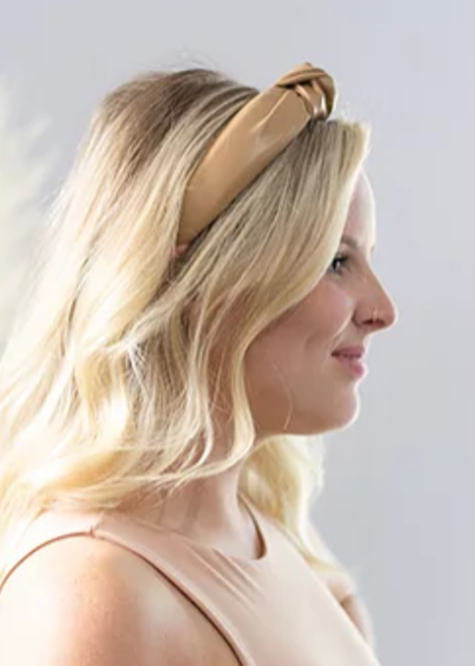 FEMME FAIRE KNOTTED HEADBAND FAUX