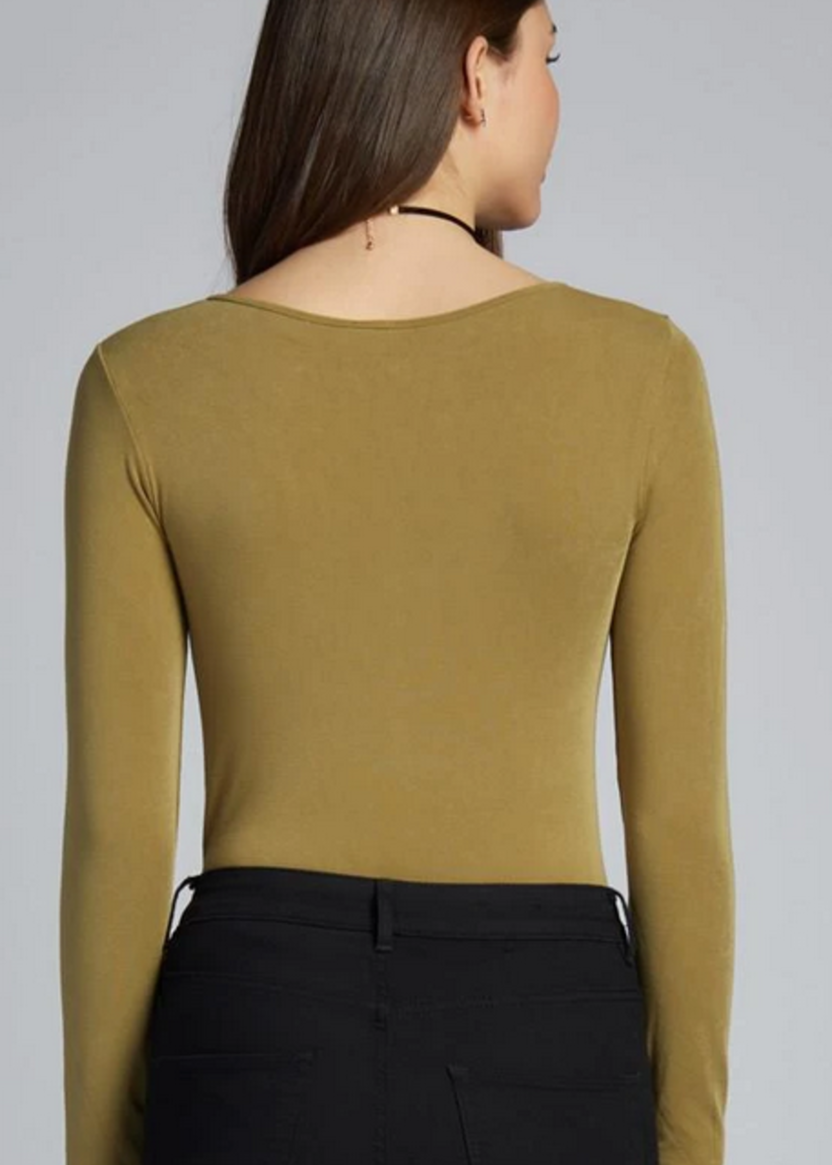 CEST MOI CLOTHING BAMBOO LONG SLEEVE V NECK TOP