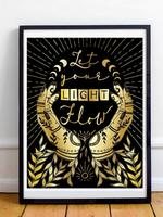 MELINA/KIMBERLEY BC MELINA ART PRINT LIGHT FLOW DARK