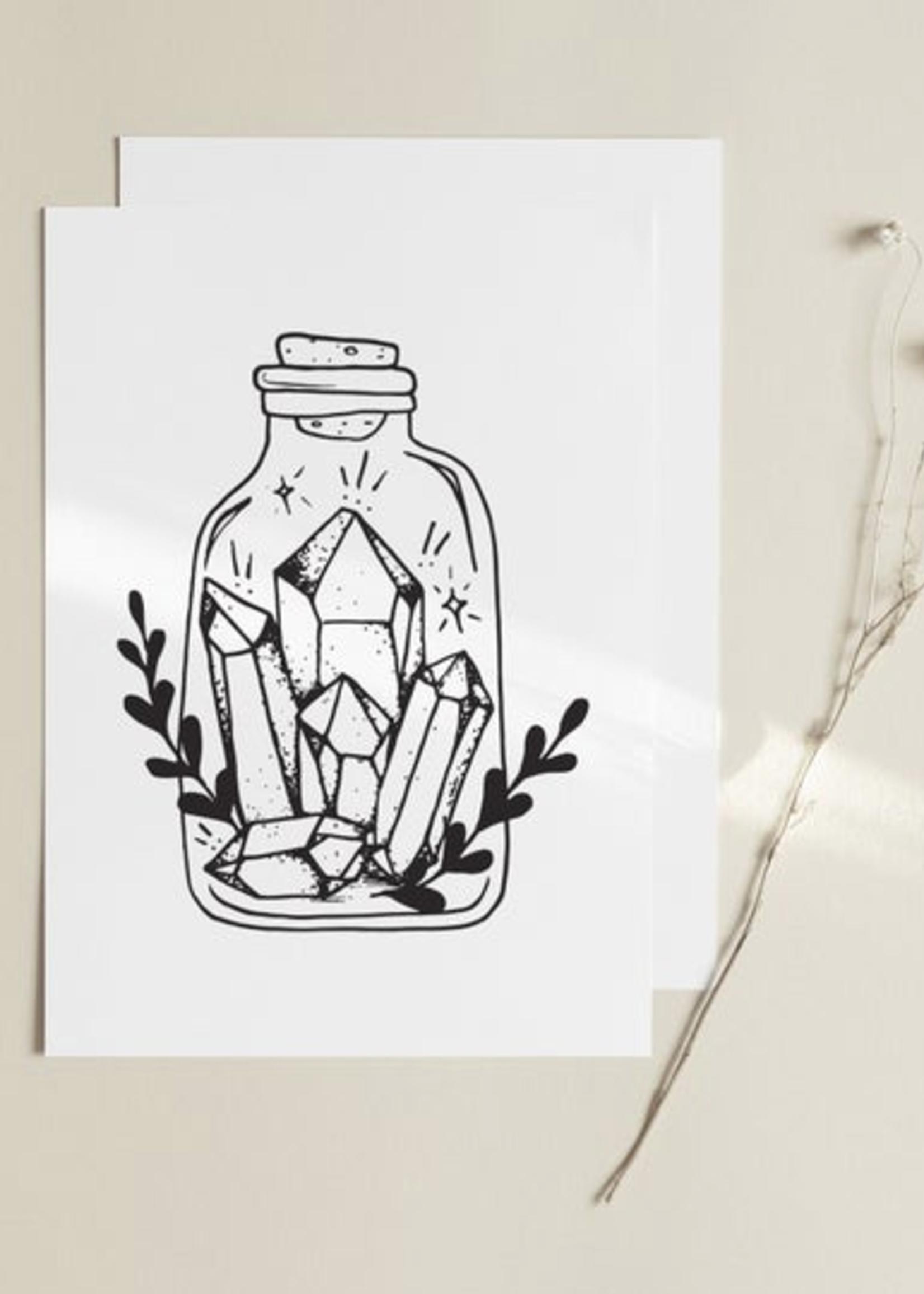 MELINA/KIMBERLEY BC MELINA ART PRINT CRYSTAL JAR